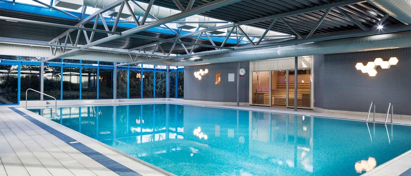 Swimming pool at the Radisson Hotel Heathrow