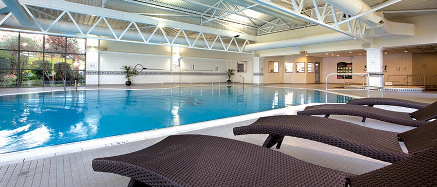 Swimming pool at the Crowne Plaza Heathrow Hotel