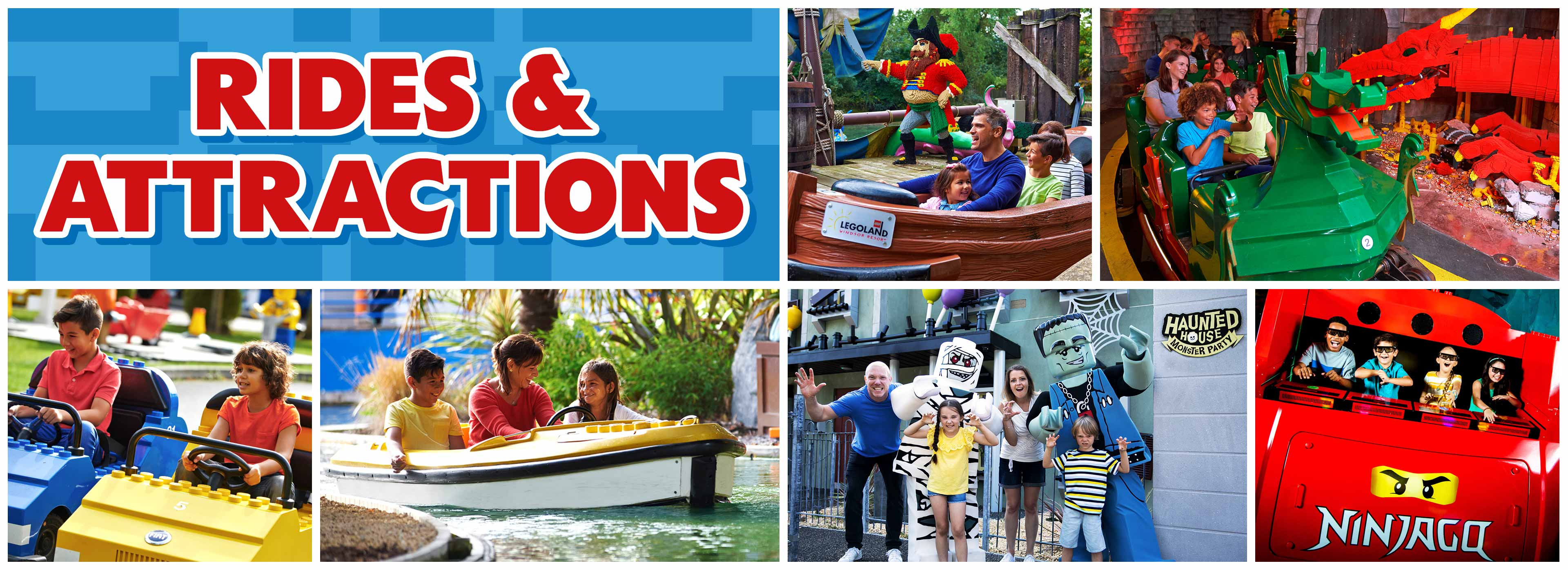 Rides and attractions at LEGOLAND® Windsor Resort