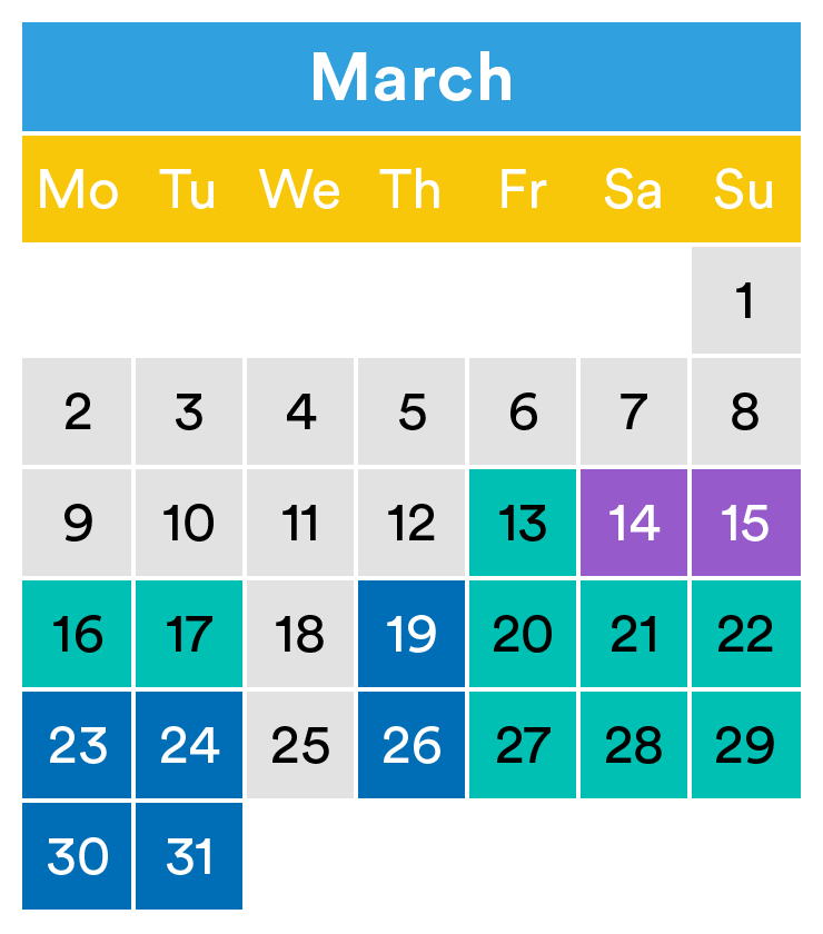 LEGOLAND opening times March 2020