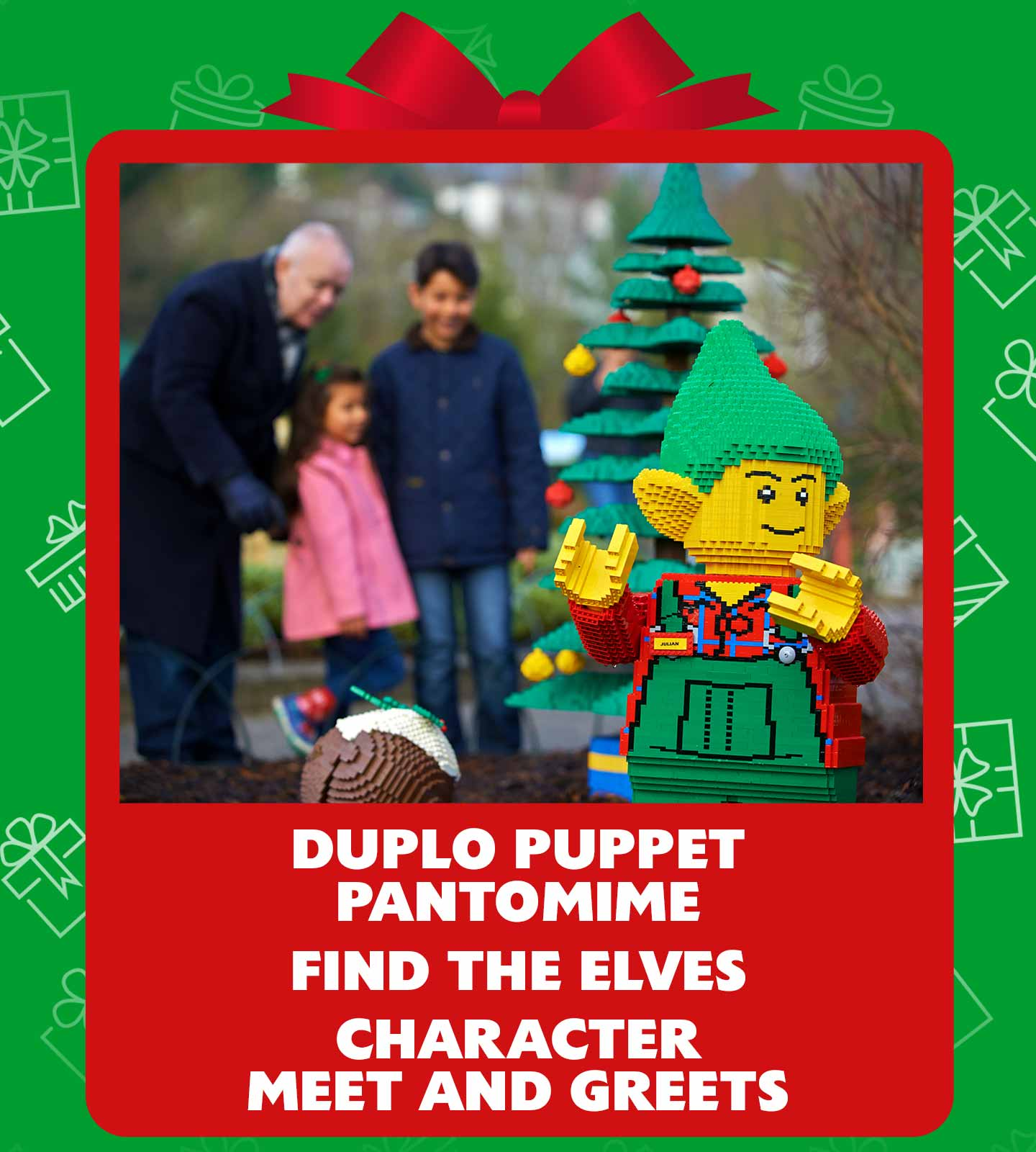 DUPLO Christmas pantomime, find the elves and catch up with your favourite characters and more at LEGOLAND Windsor Resort