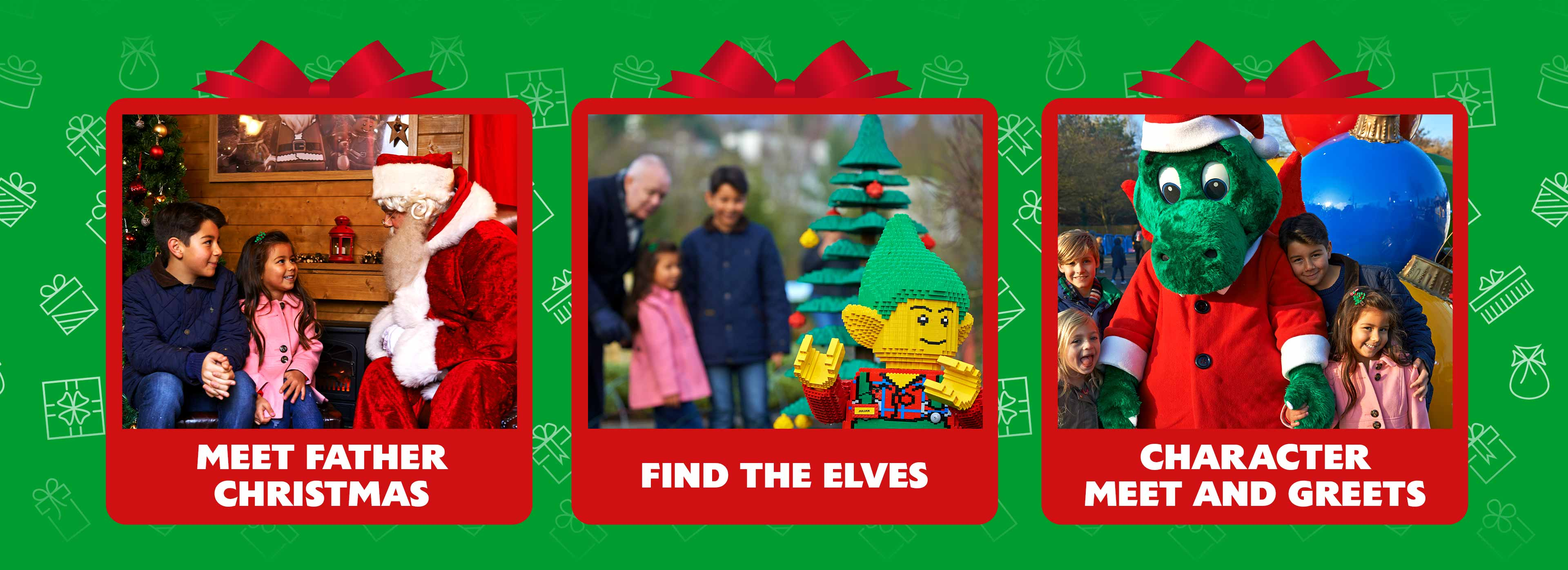 Meet Father Christmas, Find the elves and catch up with your favourite characters and more at LEGOLAND Windsor Resort