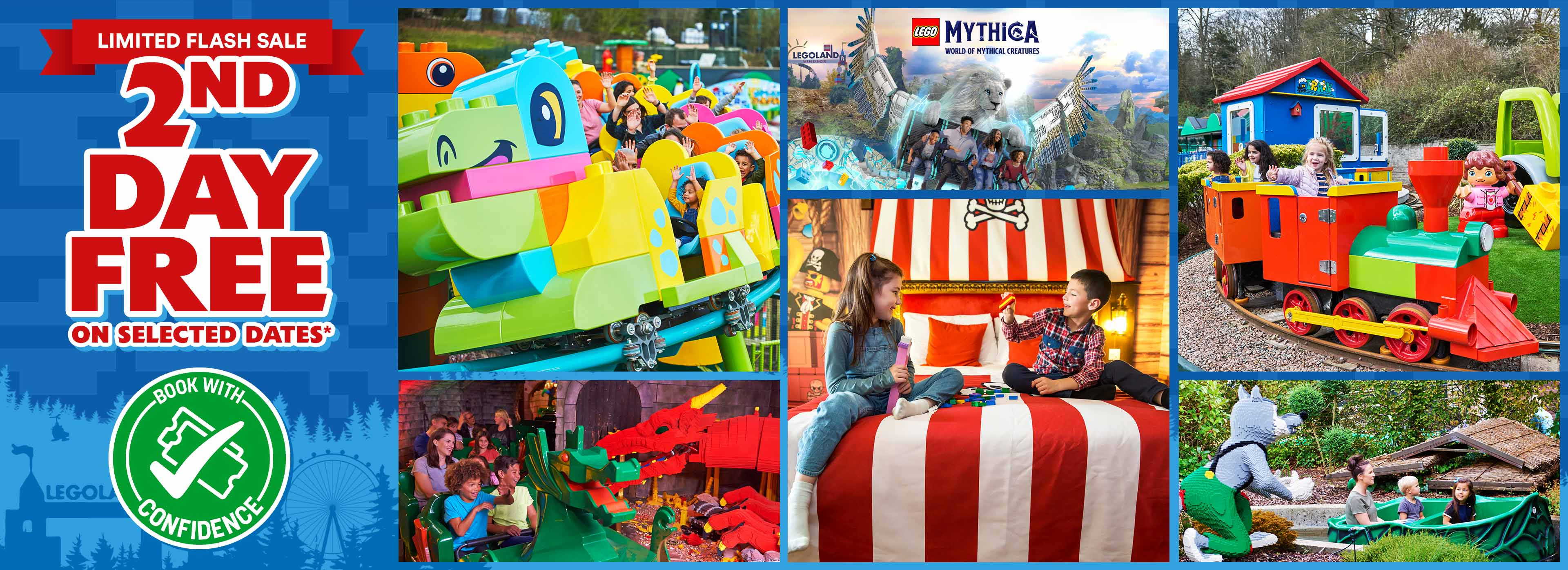 2nd Day FREE offer with LEGOLAND Holidays
