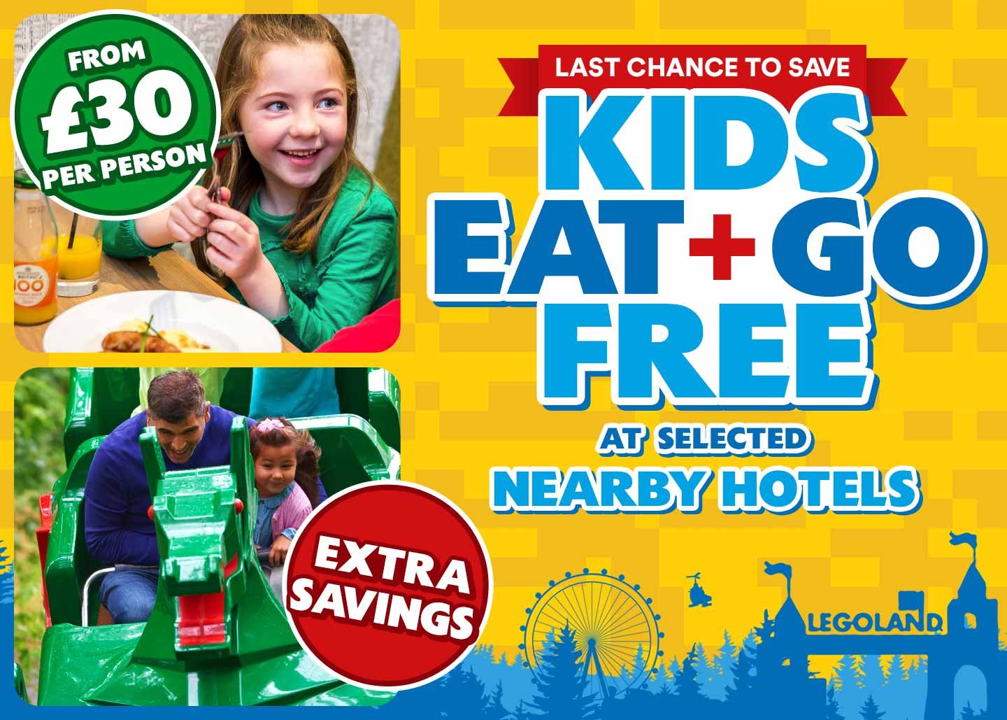 Kids Eat and Go FREE at the LEGOLAND Windsor Resort