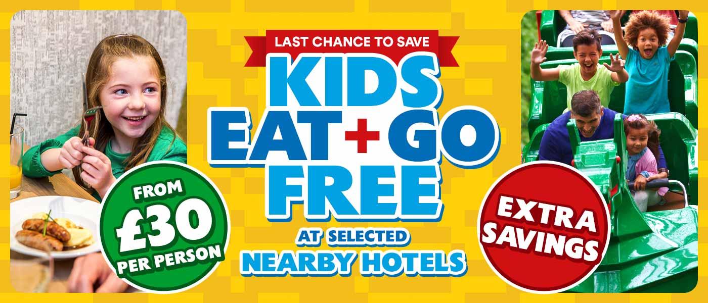 Kids Eat and Go  FREE at LEGOLAND Windsor Resort