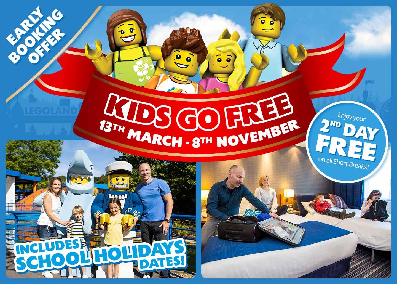 Kids Go FREE with LEGOLAND<sup>®</sup> Holidays