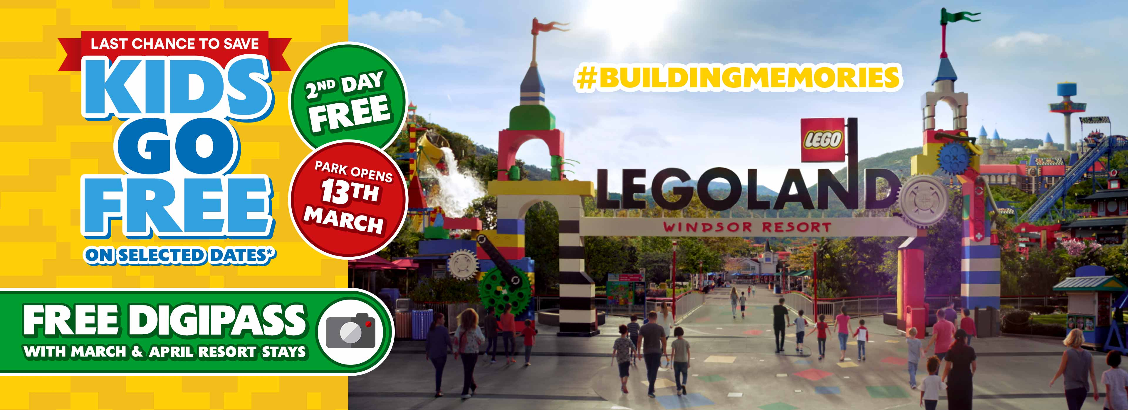 Treat the family to a LEGOLAND® Windsor holiday in 2020 and your Kids Go FREE!