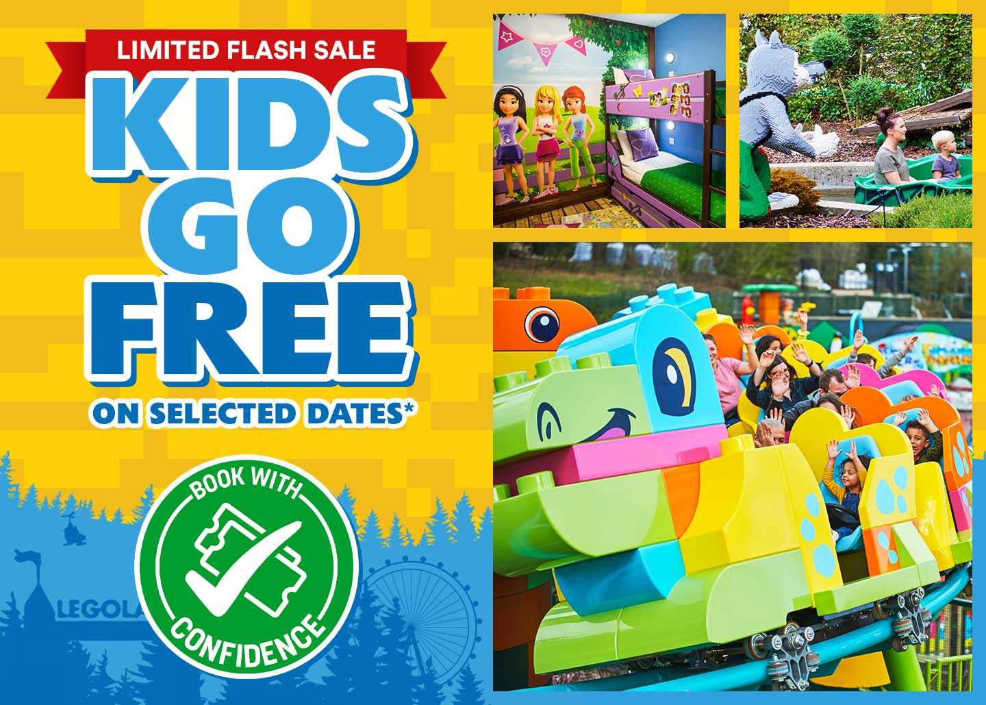 Kids Go FREE offer with LEGOLAND Holidays