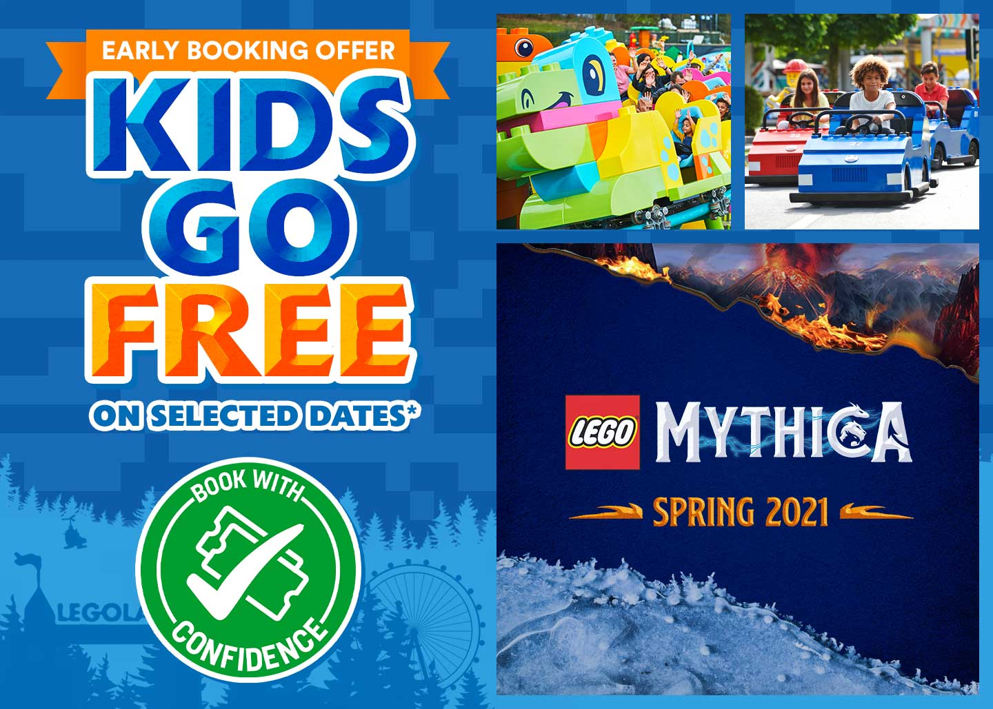Early Booking Offer, Kids Go FREE with LEGOLAND Holidays