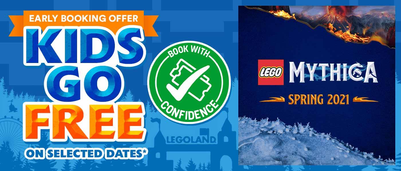 Kids go FREE with LEGOLAND Holidays