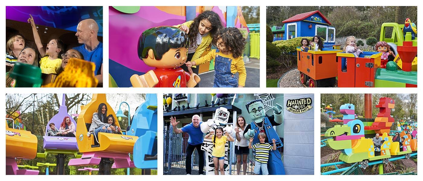 Toddler rides at LEGOLAND<sup>®</sup> Windsor Resort