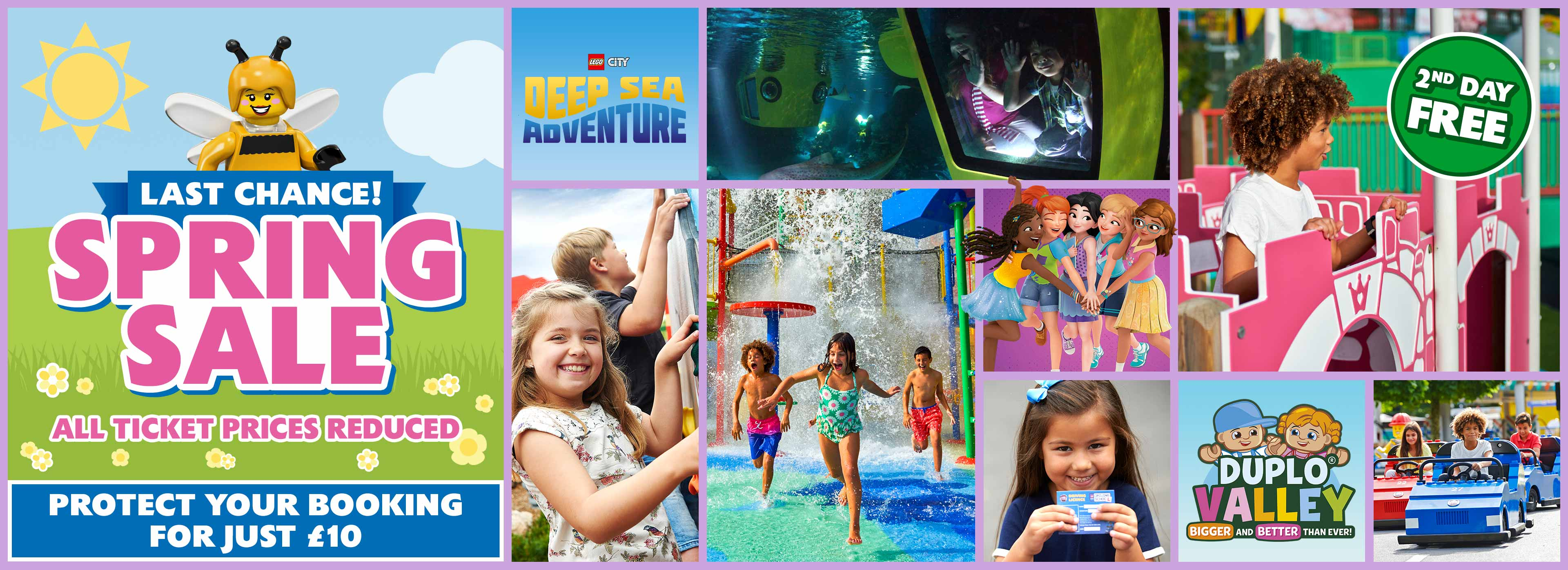 Spring Sale! Ticket prices reduced on All dates with LEGOLAND Holidays